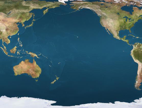 The Pacific Basin encompasses  Pacific Ocean