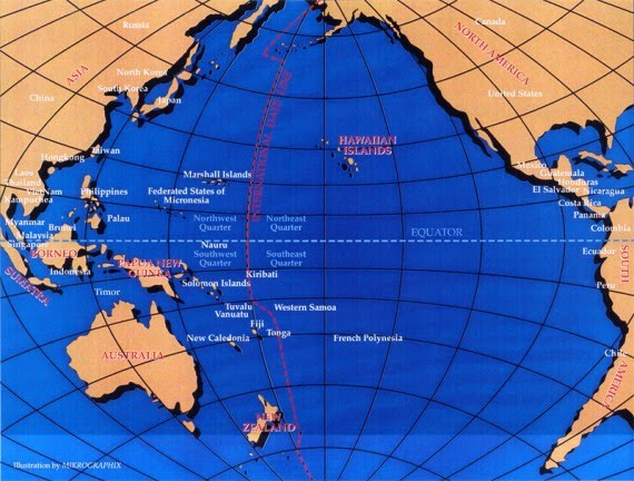 Trans Pacific Islands Map