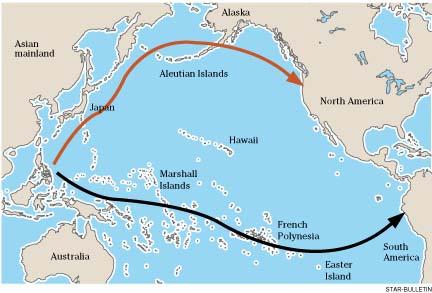 pacific ocean and land bridge theory The bering land bridge holds vital clues to the story of the americas' first inhabitants a new project may rewrite the history books.