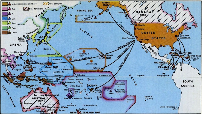 Exploration And Colonization TranspacificProjectcom - Us territories and possessions map