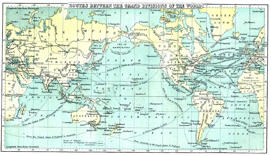 Maps transpacificproject steamship and telegraph routes 1888 gumiabroncs Image collections